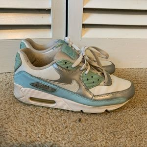 Blue and White Nike Air Max size 8